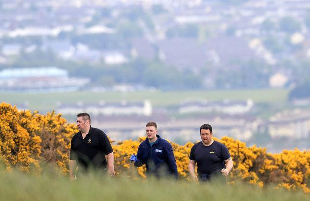 Gardai in the Puck's Castle area near Dublin as a body has been found in the search for missing Jastine Valdez.