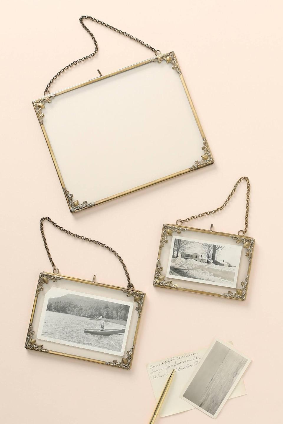 """<p><strong>Anthropologie</strong></p><p>anthropologie.com</p><p><strong>$22.00</strong></p><p><a href=""""https://go.redirectingat.com?id=74968X1596630&url=https%3A%2F%2Fwww.anthropologie.com%2Fshop%2Folivia-frame2&sref=https%3A%2F%2Fwww.cosmopolitan.com%2Flifestyle%2Fg31710124%2Ftaurus-gift-guide%2F"""" rel=""""nofollow noopener"""" target=""""_blank"""" data-ylk=""""slk:SHOP NOW"""" class=""""link rapid-noclick-resp"""">SHOP NOW</a></p><p>Tauruses treasure memories with the people they love, so they'll be touched to receive an elegant frame with a picture of the two of you together.</p>"""