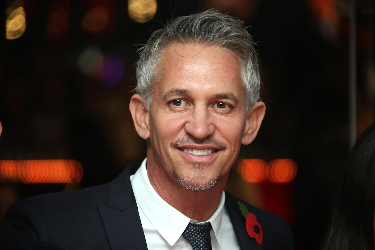 Gary Lineker was not impressed with the joke. (PA)