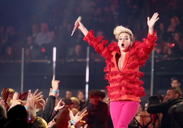 "<p><em>Witness</em> debuted at No. 1 in its first week, but fell to No. 13 in its second week. It's Perry's first studio album to spend just one week in the top 10 since 2008's <em>One of the Boys</em>. The lead single, ""Chained to the Rhythm,"" reached No. 4, but the two follow-ups missed the top 40. (Photo: Getty Images) </p>"