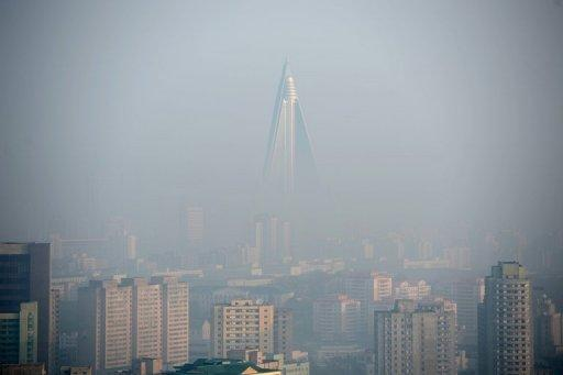 This file photo shows a general view of central Pyongyang, pictured in April