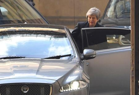 Britain's Prime Minister Theresa May leaves the Houses of Parliament in London, Britain, May 22, 2019. REUTERS/Toby Melville