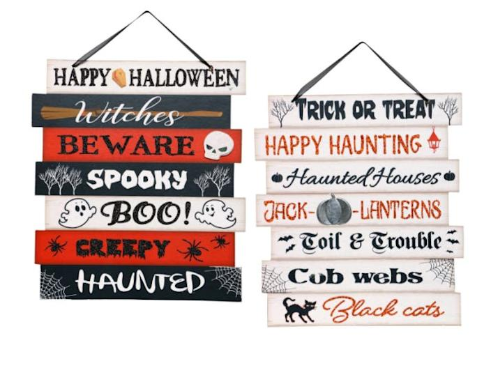"""These decorative wall signs can be hung on a nail or removable hook. <span class=""""copyright"""">Dollar Tree</span>"""
