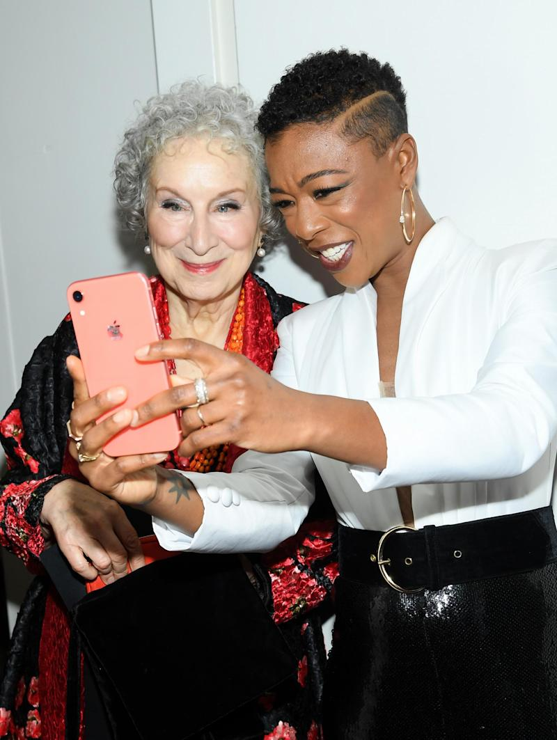 Margaret Atwood and Samira Wiley (Dimitrios Kambouris/Getty Images for Glamour)