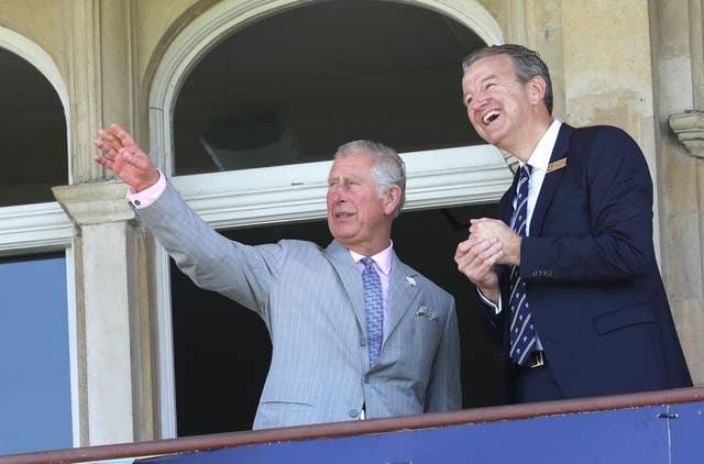 Charles at the Oval cricket ground