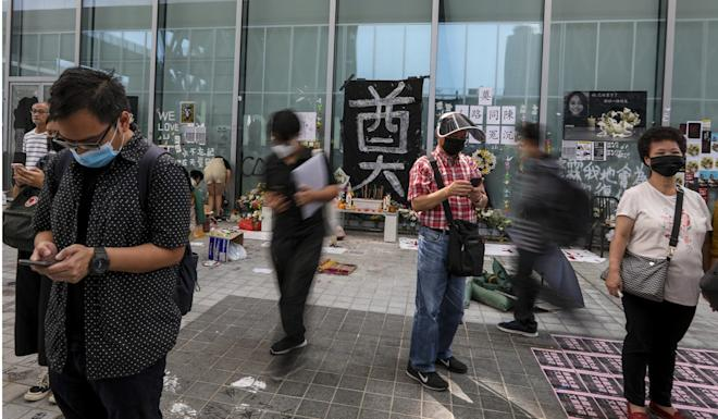 There have not been classes on the campus since it was vandalised on Monday. Photo: Xiaomei Chen