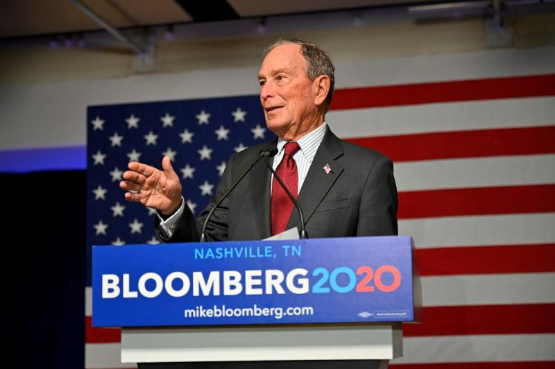 FILE PHOTO: Democratic presidential candidate Bloomberg opens his Tennessee campaign headquarters in Nashville
