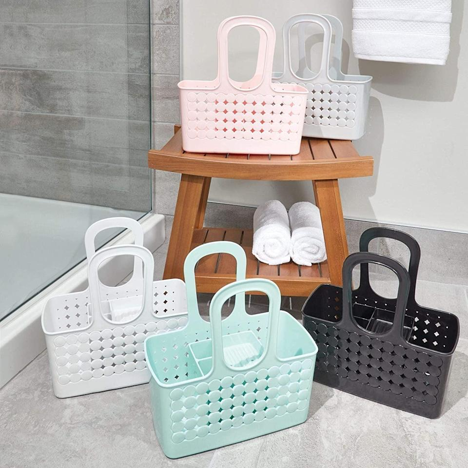 <p>Taking all your toiletries to the communal bathroom will feel easier with this <span>iDesign Orbz Plastic Bathroom Shower Tote</span> ($29). It has has nine different compartments for storing shampoo, conditioner, face wash, lotion, toothbrushes, razors, washcloths, and creams. It even has holes at bottom so that water can drain out.</p>