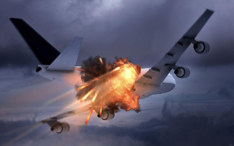 In September 2014, flames were seen bursting out of the engine of a Russia-bound plane (not pictured) shortly after take-off
