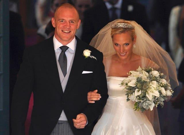 Tindall and Zara Phillips, daughter of Anne, Princess Royal, married in Edinburgh in 2011