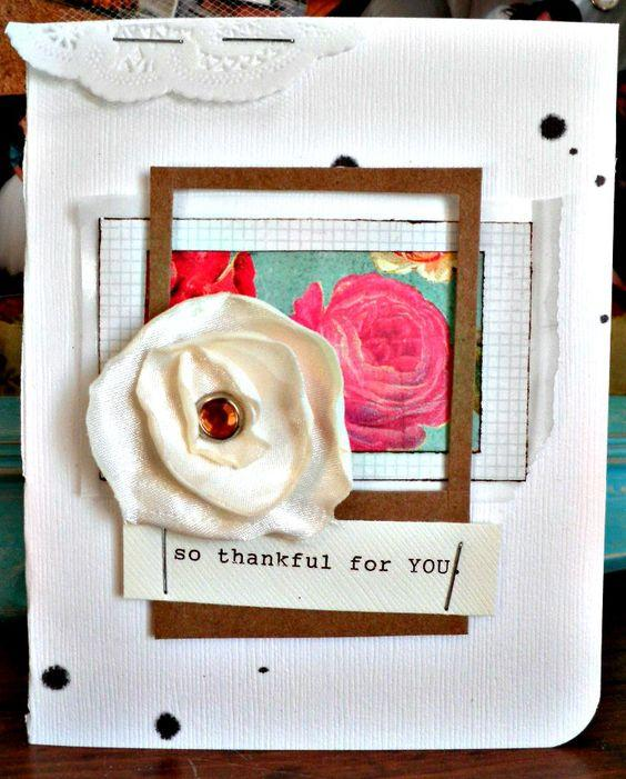 valentine card diy flower cloth