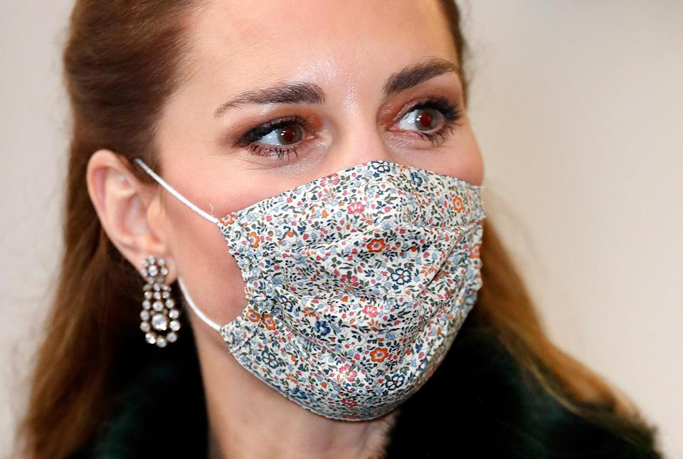 <p>Queen Elizabeth first wore these sparkling diamond earrings at the State Opening of Parliament in 2012, but Kate has worn them on several occasions since, including in December 2020 to wrap her train tour of the U.K. with Prince William.</p>