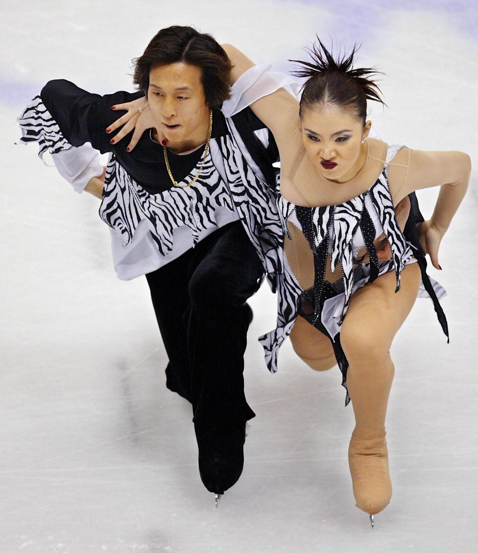 <p>Animal print was clearly back in at the Olympics with the South Korean pairs team wearing zebra inspired outfits in Salt Lake City. But they're not the only athletes to experiment with animal print. </p>