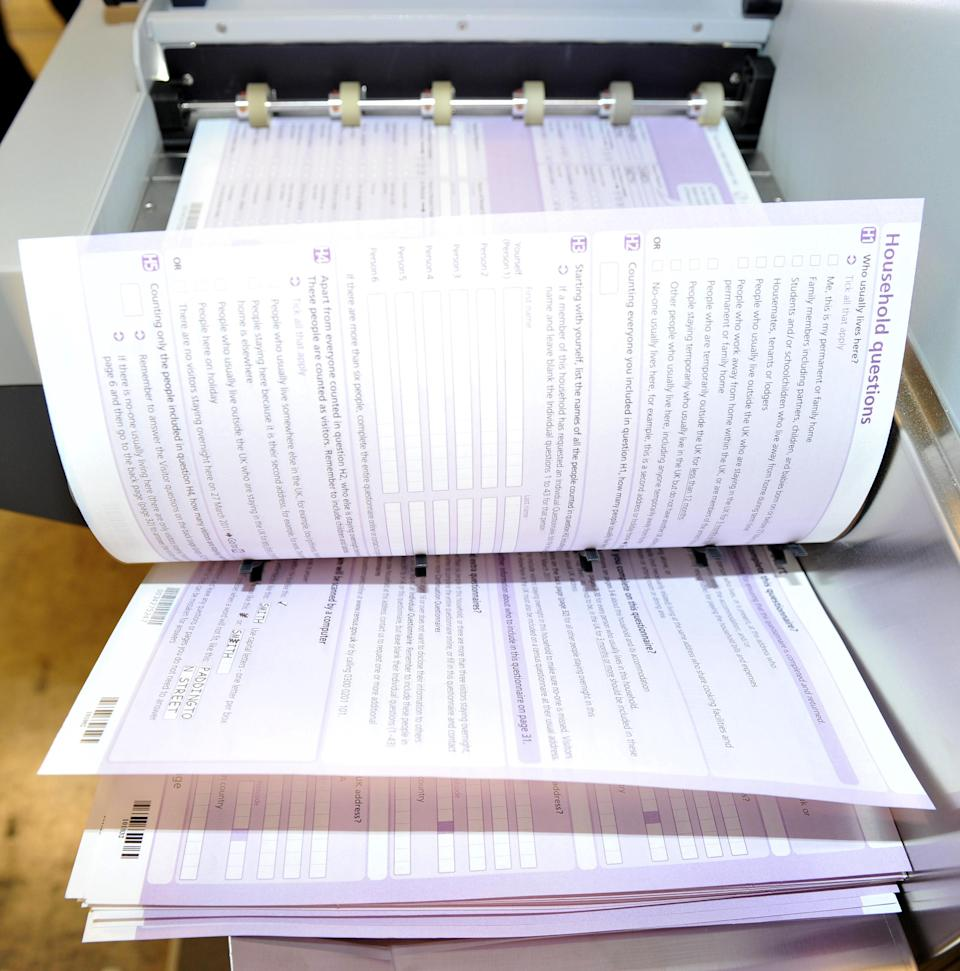 Test copies of the 2011 Census are scanned at UK Data Capture, in Trafford Park, Manchester.