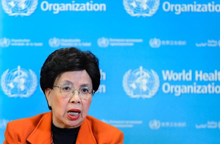 "World Health Organization chief Margaret Chan holds a press conference on February 1, 2016 in Geneva, to delare the Zika virus outbreak in South America a ""public health emergency of international concern"" (AFP Photo/Fabrice Coffrini)"