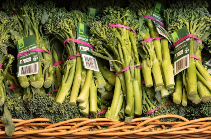Broccolini tags are now paper. Source: Woolworths