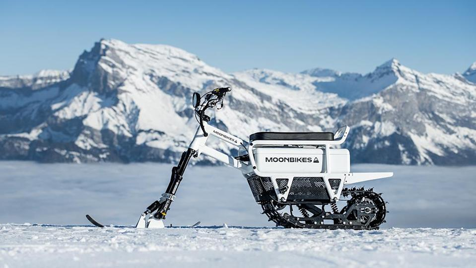 The white version of the all-electric Moonbike. - Credit: Moonbikes