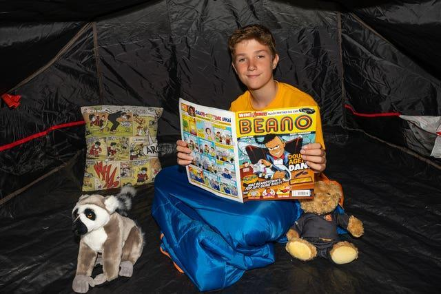 Max Woosey big camp out