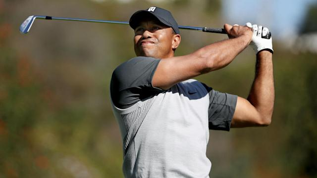 It was the definition of a mixed bag for Tiger Woods at the Genesis Open, including some wild drives and one ball lodging itself in a tree.