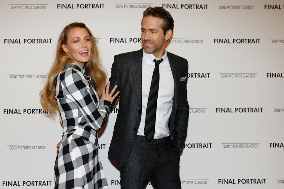 Actors Blake Lively and Ryan Reynolds arrive for a special screening of 'Final Portrait' in New York, U.S., March 22, 2018. REUTERS/Brendan McDermid