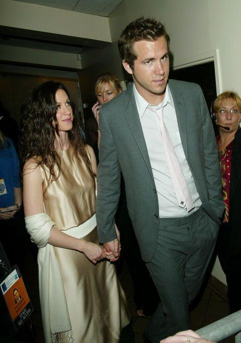 """<p>The Canadian singer and the Canadian actor <a href=""""http://people.com/celebrity/alanis-morissette-ryan-reynolds-split/"""" rel=""""nofollow noopener"""" target=""""_blank"""" data-ylk=""""slk:met in 2002"""" class=""""link rapid-noclick-resp"""">met in 2002</a> and hit it off. Reynolds proposed, but they never made it down the aisle, parting ways in 2006.</p>"""