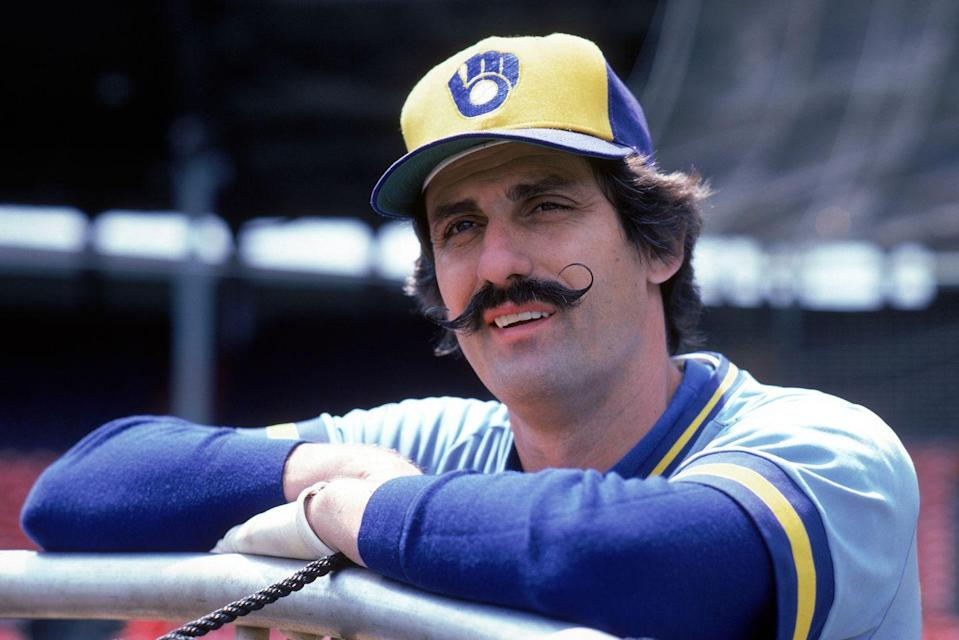 <p>Even though Fingers was a legendary baseball pitcher, he was equally known for his performance on the field as his signature handlebar mustache.</p>