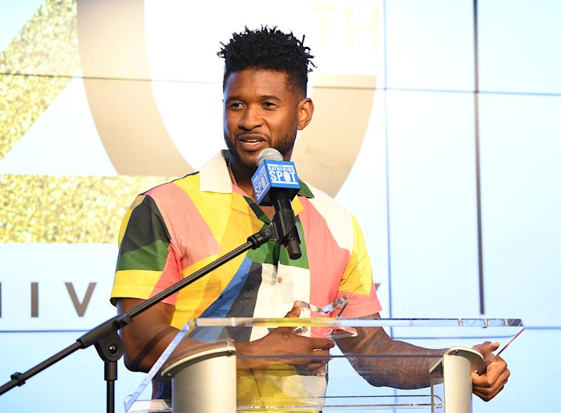 ATLANTA, GEORGIA - JULY 24: Recording artist Usher onstage during Usher New Look Foundation Summit 20th Anniversary VIP Fundraiser at The Gathering Spot on July 24, 2019 in Atlanta, Georgia. (Photo by Paras Griffin/Getty Images)