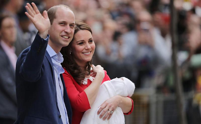 Duke and Duchess of Cambridge name son Louis Arthur Charles