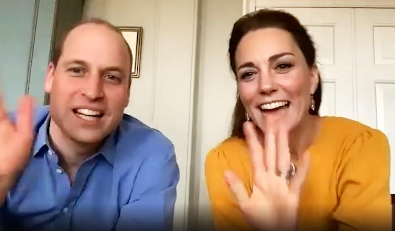 William and Kate Zoom meeting with school