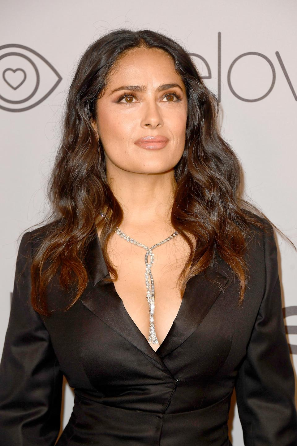 Salma Hayek says she feels shame over not speaking up about Harvey Weinstein's alleged abuse. (Photo: Getty Images)