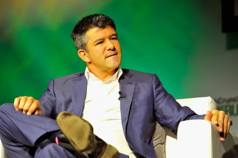 Uber co-founder Travis Kalanick, shown here in 2014, will sever his ties from the company at the end of the month when he steps down from the board (AFP Photo/Steve Jennings)