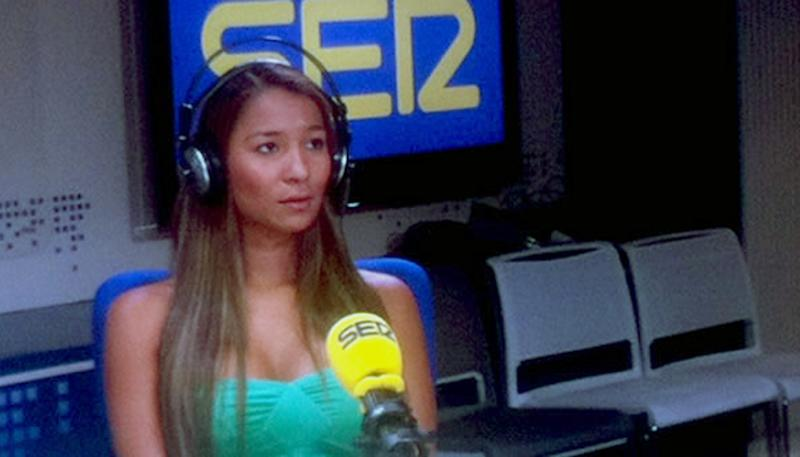 In this Friday, May 4, 2012 photo released by the Spanish radio station Cadena SER shows Dania Suarez during an interview at an undisclosed location. Suarez says she was the woman who triggered the U.S. Secret Service scandal in Colombia. Suárez also says she never would have complained about not being paid by an agent had she known he was part of President Barack Obama's security detail. (AP Photo/Cadena SER)