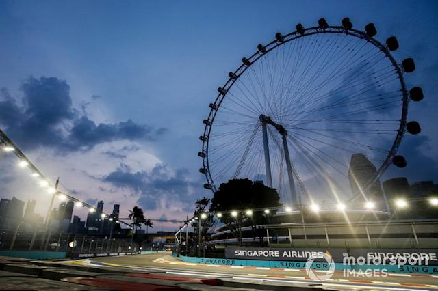 "El GP de Singapur, en Singapur, no está 100% descartado <span class=""copyright"">Joe Portlock / Motorsport Images</span>"