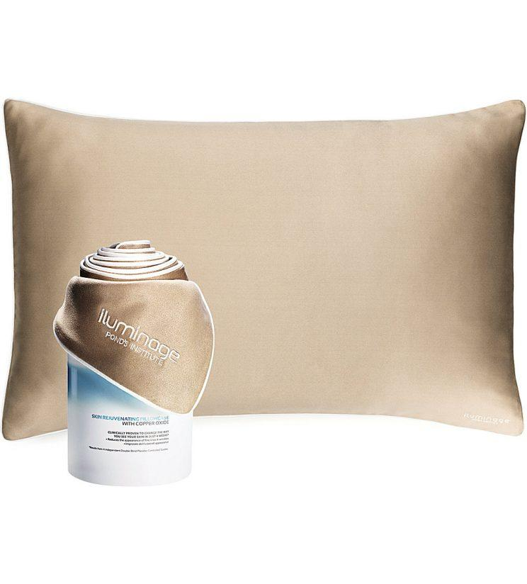 A copper pillow is one of the ways to get in on the trend [Photo: Selfridges]