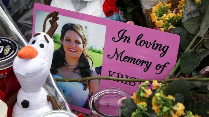 A photograph of Kristen Beaton, one of Wortman's victims, at a memorial in Debert