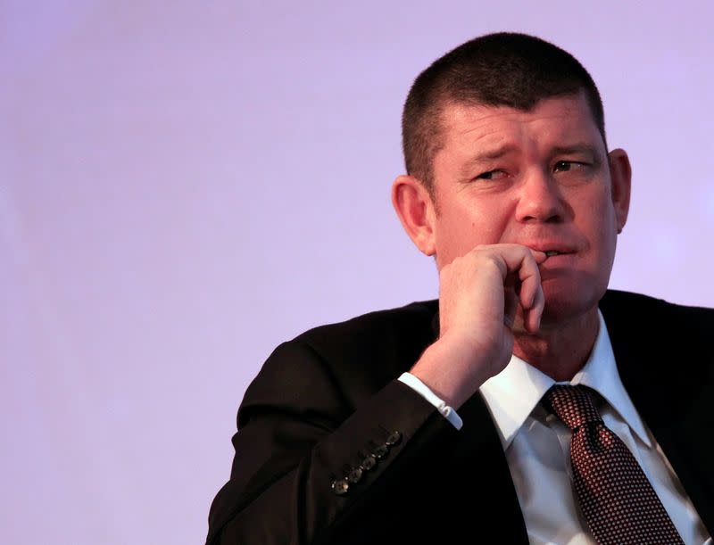 FILE PHOTO: Australian gambling tycoon Packer looks on during the Commonwealth Business Forum in Colombo
