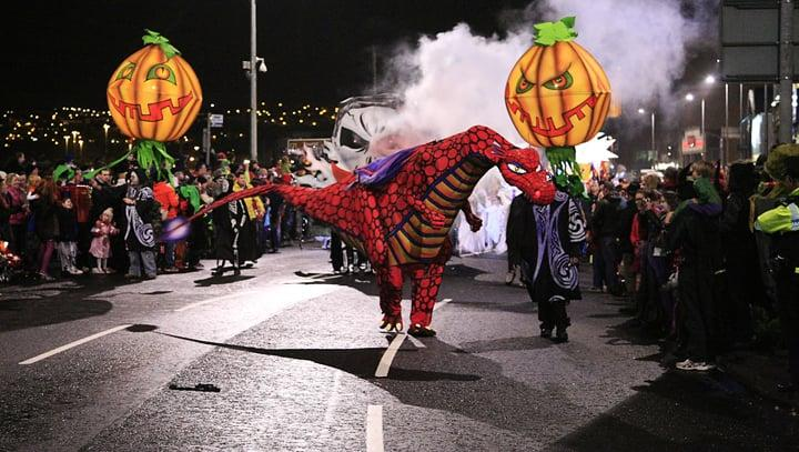 """<p>While <span>Halloween</span> is now widely celebrated throughout the world, <a rel=""""nofollow"""" href=""""https://www.usnews.com/news/best-countries/articles/2017-10-27/the-twisting-history-of-halloween"""">its origins can be traced back to the Celts</a> of the British Isles, so it's no surprise that Ireland throws quite the party. Celebrations in Ireland include fortune-telling, bonfires, eating traditional fruitcakes, and, of course, dressing in costume. For a most epic experience, Ireland's Derry City hosts the Banks of Foyle Halloween Carnival, the biggest Halloween festival in all of Europe. From dancing and haunted houses to scary movies, parades, and family-friendly activities, Ireland knows how to celebrate All Hallows' Eve.</p>"""