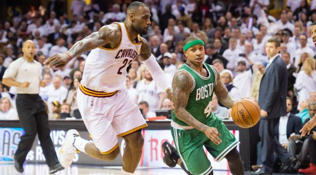 39568831ccac LeBron James Praised Isaiah Thomas For Being The Celtics   Clear-Cut Star