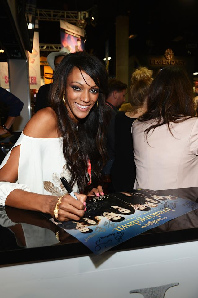 "SAN DIEGO, CA - JULY 12:  Actress Judi Shekoni attends ""The Twilight Saga: Breaking Dawn Part 2"" during Comic-Con International 2012 at San Diego Convention Center on July 12, 2012 in San Diego, California.  (Photo by Michael Buckner/Getty Images for Lionsgate)"