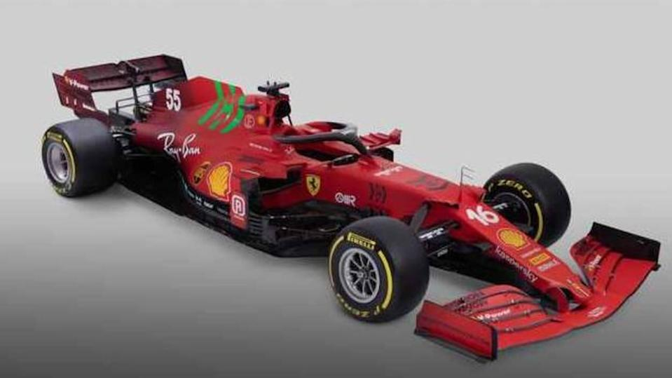Ferrari reveals SF21 F1 car with updated livery, new engine
