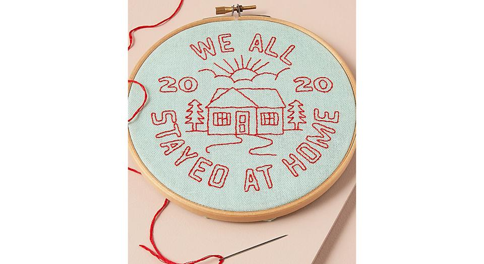 We Stayed Home Embroidery Kit (Anthropologie)