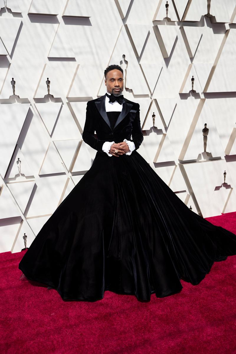 Billy Porter stunned in Christian Siriano. (Photo: Rick Rowell via Getty Images)