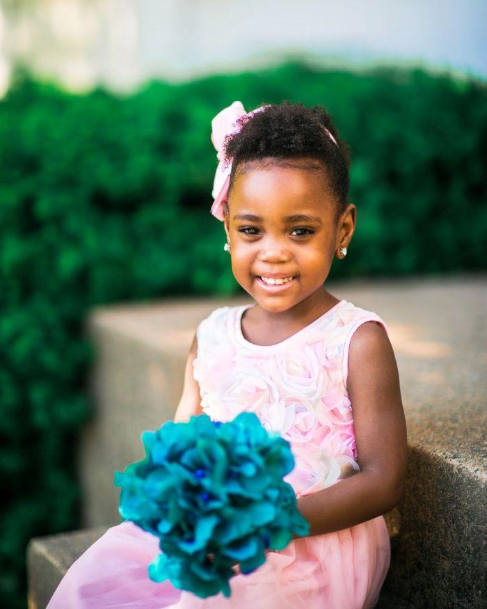 Yolanda Latimer fears that ordering out could put her 3-year-old daughter, Savannah, who is immunocompromised, at risk for the coronavirus. (Courtesy of 4 Chix Photography/Kristie Taylor)