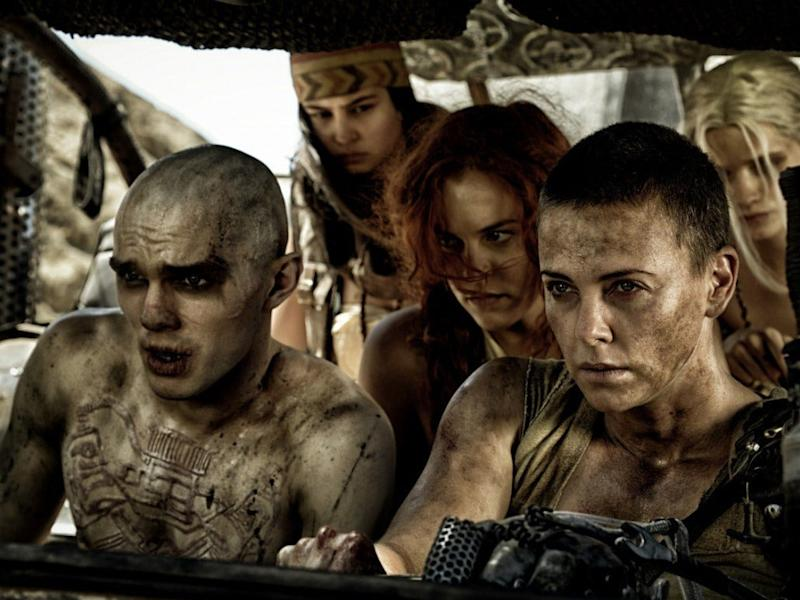 Nicholas Hoult and Charlize Theron in 'Mad Max: Fury Road': Warner Bros