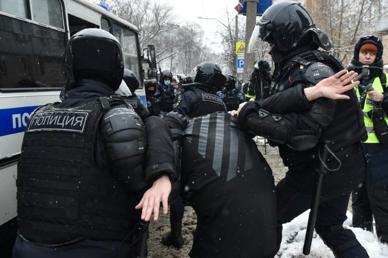 Over 5,000 people were said to have been detained at Sunday's protests