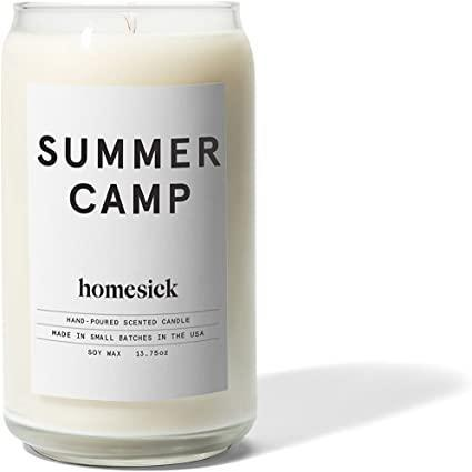 """<h2>Homesick Candles Summer Camp Candle</h2><br><br><strong>Homesick Candles</strong> """"Summer Camp"""" Scented Candle, $, available at <a href=""""https://www.amazon.com/dp/B076BJ9RL5"""" rel=""""nofollow noopener"""" target=""""_blank"""" data-ylk=""""slk:Amazon"""" class=""""link rapid-noclick-resp"""">Amazon</a>"""