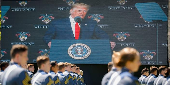 President Trump's health returned to the fore after his commencement address at West Point.
