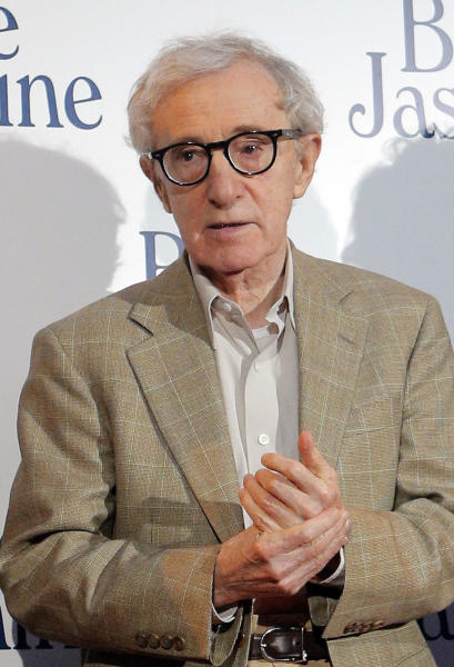 "FILE - This Aug. 27, 2013 file photo shows director and actor Woody Allen at the French premiere of ""Blue Jasmine,"" in Paris. In an Op-Ed piece by Nicholas Kristof published on the New York Times website on Saturday, Feb. 1, 2014, the author referenced a letter by Allen's adopted daughter Dylan Farrow, 28, that he posted on his blog, detailing how she was molested by Allen while growing up. (AP Photo/Christophe Ena, File)"
