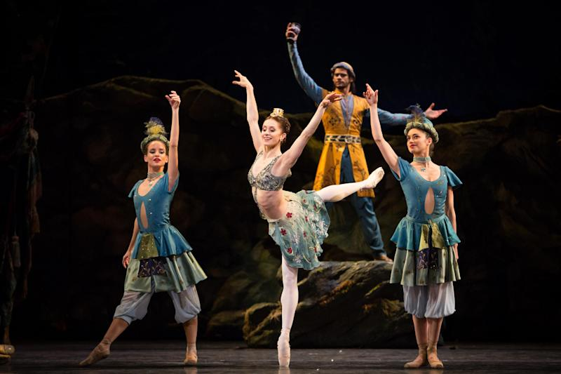 A mythlogical-pastoral dream: Marianela Nuñez as Sylvia with artists of the Royal Ballet: ROH/Alice Pennefather