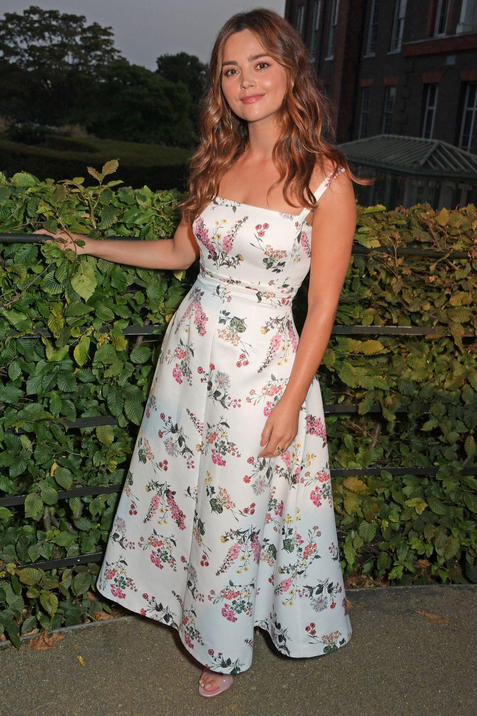 <p><strong>7 September</strong></p><p>Jenna Coleman in Emilia Wickstead at the Ambassador Theatre Group summer party in London.</p>